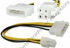 """Lot10 12""""in/1ft long P4~4pin Molex Male ATX PSU/Power Supply Adapter Cable/Cord"""