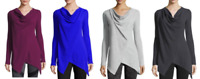 NEW Marc New York Women's Asymmetric Thermal Tunic VARIETY SIZE & COLOR E33