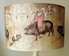 Pig Lampshade,light shade,Vintage bunting,clouds, Shabby chic,Natural Free Gift