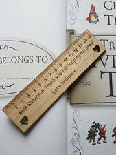 PERSONALISED WOODEN BOOKMARK TEACHER GIFT END OF TERM SCHOOL LEAVING PRESENT