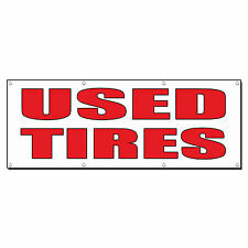 USED TIRES Auto Body Shop Car Repair Banner Sign 4 ft x 2 ft /w 4 Grommets