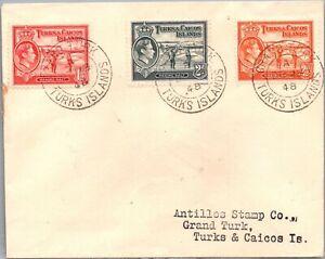 GP GOLDPATH: TURKS & CAICOS COVER 1948 _CV677_P14