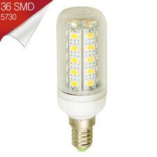 Bombilla LED E14 Mignon 36 SMD 5730 360º Blanco Cálido 110-240V - Consumo 11W