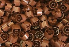 Lego New Reddish Brown 2x2 Round Brick With Axle Hole Bulk Parts Lot X250 Pc.
