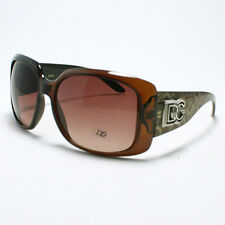 DG Eyewear Sunglasses Womens Thick Square Designer Fashion Shades Brown
