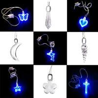 LED azul luminoso glow in dark colgante collar estrella regalo Navidad joyería