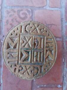 Old wooden bread stamp