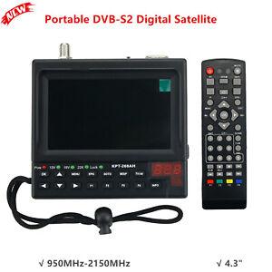 "DVB-S2 Digital Satellite Finder & Monitor Full HD DVB-S Sat Finder Meter 4.3"""