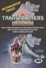 X4027 Transformers Pretenders - GIG - Pubblicità 1988 - Advertising