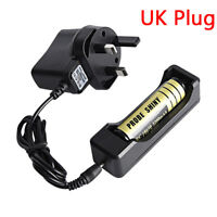 LI-ION Battery Blke Charger For Rechargeable 18650 3.7V Battery Travel UK Plug