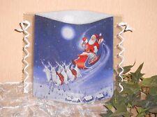 Tischlicht/Windlicht - Weihnachtsmann mit Rentieren - Weihnachten/Winter