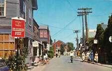 Rockport Massachusetts Bearskin Neck Street Scene Vintage Postcard J66237