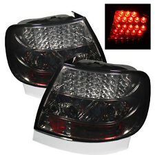Pair LED Tail Lights Lamps Audi A4 1996-2001 Smoke Lens  1 Year Warranty