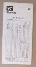 CTA - Chicago Transit Authority  1974 Timetable Skokie Route 97