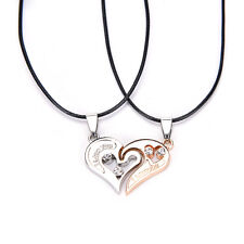 Men Women Lover Couple Necklace I Love You Heart Pendant Stainless Steel·FO