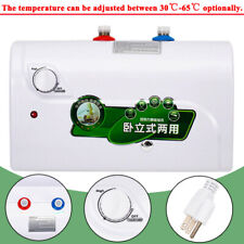 8L Instant Electric Tankless Hot Water Heater for Home Kitchen Bathroom 1500W