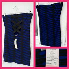 Womens LIPSY Dress Size 12 Blue boob tube dress, Cut out, open back, Sexy Straps