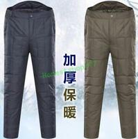 Men/Unisex Adult Outdoor Ultralight Duck Down Winter Snow Trousers Casual Pants
