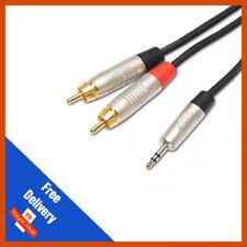 1 M 3.5 mm jack à 2 RCA Câble Audio Double Phono Plugs-Neutrik-REAN Connecteurs