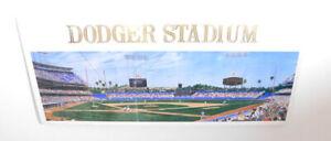 """1991 Dodger Stadium Andy Jurinko """"Chavez Ravine Triptych"""" Artwork 17"""" x 7 1/4"""""""