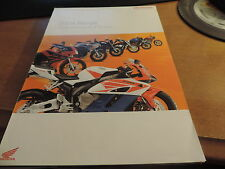 Honda Range 2004 16 page fold- out Motorcycles
