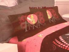 RETIRED DISNEY TINKER BELL BLACK PINK SWIRL FULL SHEET SET TINKERBELL LAST ONE