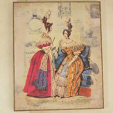 Bild Damen Schönes Dame Antikes Gemälde Einer Empirekleid Frankreich Shabby Chic