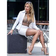 Crazy Outfits White jacket US 12 M 42 Weiss jacke veste Blanc PVC LACK PU