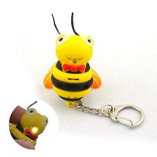 EW66 Bee Keychain With Sound Effect Kids Gift Yellow (3 x AG10) EW 66 STv