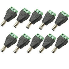 10 X DC POWER PLUG 12V VOLT CCTV ADAPTOR CONNECTOR MALE 2.1MM X 5.5MM X 10MM