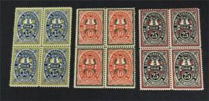 nystamps Sweden Local Post Stamp Mint OG NH Block Of 4   L23y1078