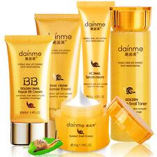 24K Gold Snail Skin Care Set Face Cream/Eye Cream/BB Cream/Toner/Cleanser 5pcs