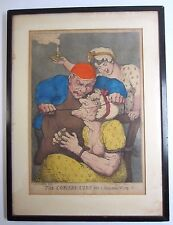 """Rowlandson """"The Cobblers Cure for a Scolding Wife""""  Original Hand-Coloured Etch."""