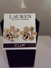 $36 Lauren Ralph Lauren Flower Clip Earrings Rl #22