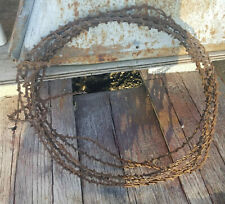 Antique Zig-Zag Crandel's craig 1879 Strand Line Barbed Wire Salvaged Rusty