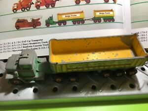 """1966 Matchbox/Lesney Dodge Tractors W/Twin Tippers 12"""" Long Rare"""