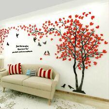 3D цветок дерево дома комнаты АРТ декор сделай сам настенная наклейка съемная наклейка винил фрески
