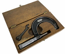 New Listingstarrett No 436 1 2 In Micrometer With Nice Wood Case And Tool