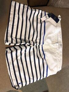 Polo Mileclub White Nautical Swim Trunks Size 40