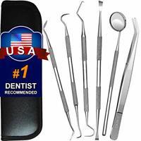 Dental Tools, 6 Pack Teeth Cleaning Tools Stainless Steel Dental Scraper Tooth