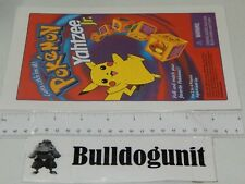 1999 Pokemon Yahtzee Jr Board Game Replacement Instructions Only