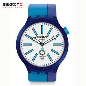 Tokyo 2020 Olympic official Swatch BB AI BLUE SO27Z100 from Japan free Expedited