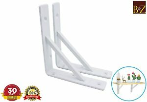 B&Z Heavy Duty Angle Braces Shelf Brackets Industrial Iron Hand Made Wall Mount