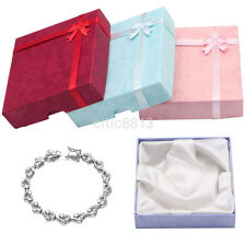 New Square Bowknot Package Bracelet Bangle Jewelry Display Box Gift Present Case