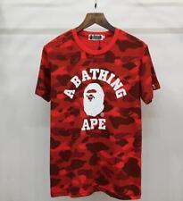 Fahion Men's Camo Bape Monkey icon  Pattern Round Neck A Bathing Ape T-Shirt Top