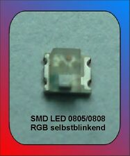 10 x LED SMD 0805/807 RGB destellante colores cambiantes