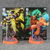 2pcs/lot Dragon Ball Z Frieza Super Saiyan Gokou Son Gohan PVC Figure Toy Gift