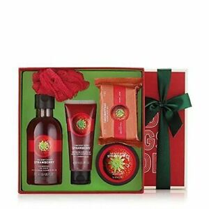 """THE BODY SHOP """"Strawberry"""" Gift Set Combo of 5: Shower Gel / Hand Cream / Soap"""