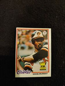 1978 Topps Eddie Murray rookie baseball card #36 Baltimore Orioles EX