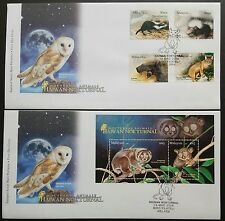 2008 Malaysia Nocturnal Animals 4v Stamps FDC & Mini-Sheet fdc (Melaka Cachet)